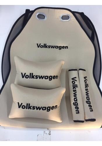 Volkswagen Nakışlı Bej Renk Konfor Seti